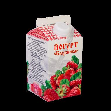 """Йогурт """"клубника"""" м.д.ж.1,5%"""
